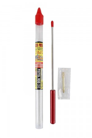 """Pro-Shot Products 1 Pc 18"""" Stainless Pistol Rod .22 Cal & Up"""