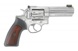 "Ruger GP100 Stainless Hardwood FO Sight 357 Mag, 4 1/4"" Barrel"