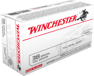 Winchester 38 Special, 130 Gr FMJ