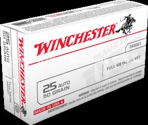 Winchester 25 Auto, 50 Gr FMJ