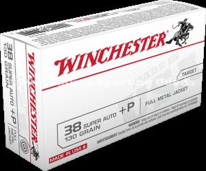 Winchester 38 Super Auto +P, 130 Gr FMJ