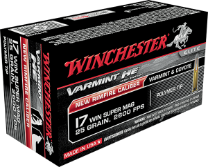 Winchester 17 Win, 25 Gr Super Mag PT