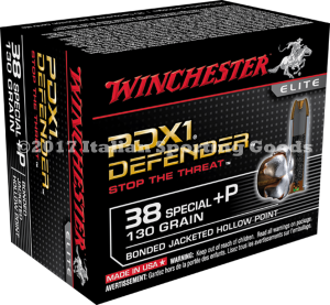 Winchester 38 Special +P, 130Gr PDX1 BJHP