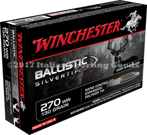 Winchester 270 Win, 130 Gr Ballistic STip