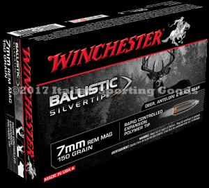 Winchester 7MM Rem Mag, 150 Gr Ball STip