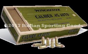 Winchester 45 Auto, 230 FMJ Wood Box