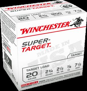 """Winchester 20 Ga, 2 3/4""""  7/8 Oz  #7 1/2"""