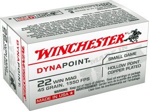 Winchester 22 Win Mag, 45 Gr Dynapoint