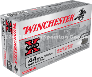 Winchester 44 Special, 240 Gr Lead Fl Nos