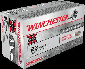 Winchester 22 Hornet, 45 Gr Soft Point