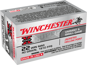Winchester 22 Win Mag, 40 Gr JHP