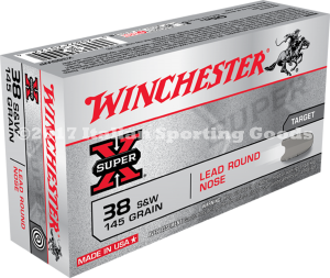 Winchester 38 S&W, 145 Gr Lead Round Nose