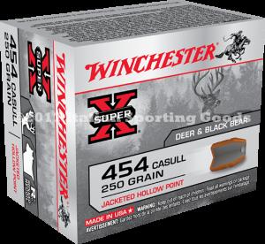 Winchester 454 Casull, 250 GR JHP