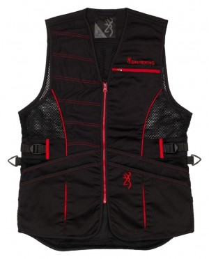 Browning Ace Shooting Vest For Her-Black/Red L